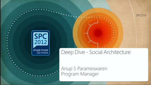 Deep Dive of the Social Architecture in SharePoint 2013