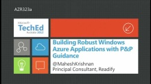 Building Robust Windows Azure Applications with P&P Guidance