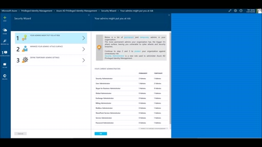 Azure AD Privileged Identity Management: Security Wizard, Alerts, Reviews
