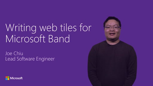 Writing web tiles for Microsoft Band