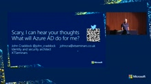 Scary, I can hear your thoughts – What will Azure AD do for me?