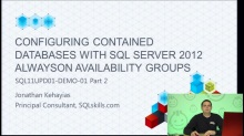 Demo: Configuring SQL Server 2012 AlwaysOn Availability Groups (part 2 of 2)