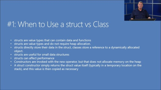 Twenty C# Questions Explained: (01) When do you use structs vs classes?