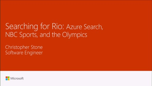 Search for Rio: NBC Olympics and Azure Search