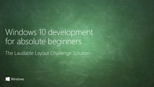 UWP-012 - Laudable Layout Challenge: Solution