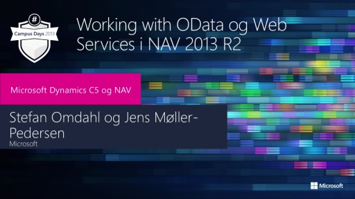 Working with Odata & Web services in NAV 2013R2