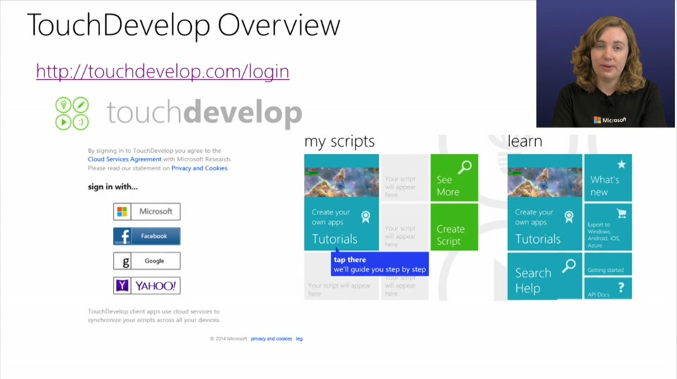 (Part 1) Building Apps with TouchDevelop - TouchDevelop Overview