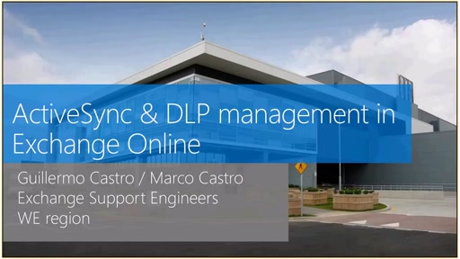 Gestion de ActiveSync y DLP en Exchange Online