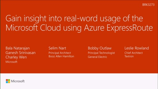 Gain insight into real-word usage of the Microsoft cloud using Azure ExpressRoute