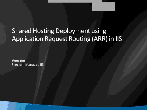 Demonstration of Shared Hosting Deployment with ARR