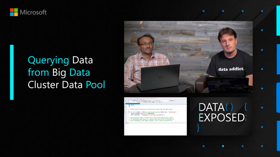 Querying Data from Big Data Cluster Data Pool