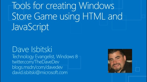 Tools for creating a Windows Store Game using HTML and JavaScript
