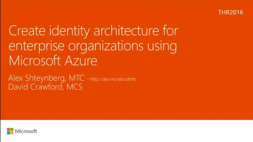 Create identity architecture for enterprise organizations using Microsoft Azure