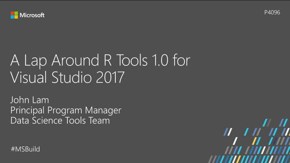 A lap around R Tools 1.0 for Visual Studio 2017