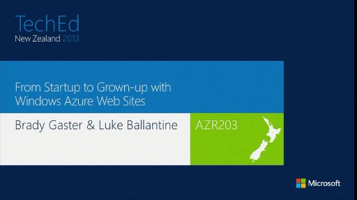 From Startup to Grown-up with Windows Azure Web Sites