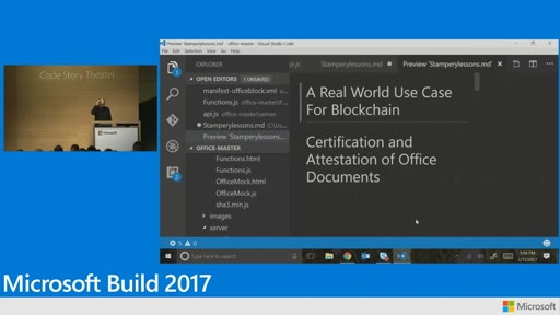A real world use for Blockchain: Certification and attestation of Office documents