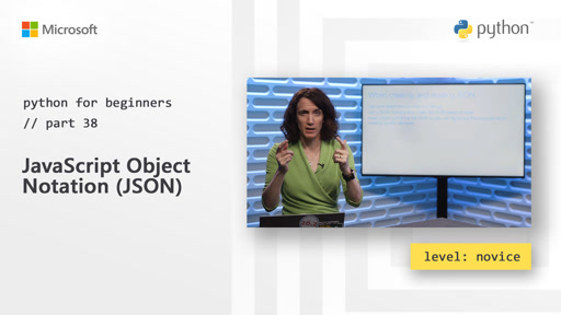 Python for Beginners [38 of 44] JavaScript Object Notation (JSON)