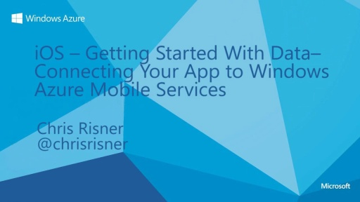 iOS - Getting Started With Data - Connecting your app to Windows Azure Mobile Services