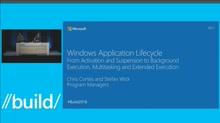 Universal Windows Application Lifecycle: From Activation and Suspension to Background Execution, Multitasking and Extended Execution