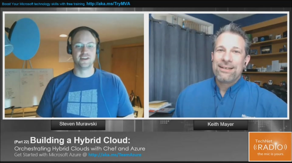 TechNet Radio: (Part 22) Building Your Hybrid Cloud - Orchestrating Hybrid Cloud with Chef and Azure