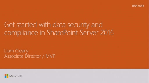 Get started with data security and compliance in SharePoint Server 2016