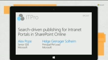 Search-driven publishing for Intranet Portals in SharePoint Online