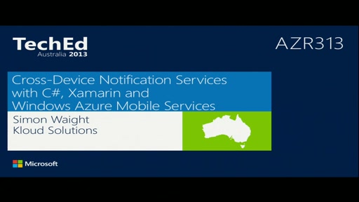 Cross-Device Notification Services with C#, Xamarin and Windows Azure Mobile Services