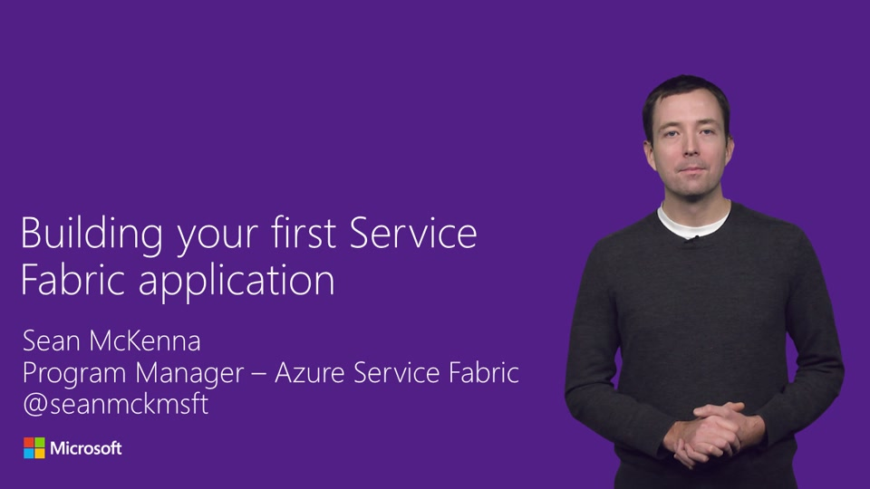 Building your first Service Fabric application