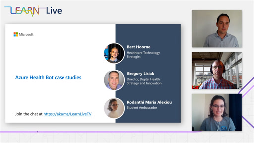 Learn Live - Showcasing how people are using Azure Health Bot