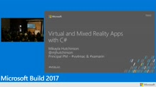Virtual and mixed reality apps with C#