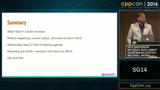 "CppCon 2016: ""WG21-SG14 – Making C++ better for games, embedded and financial developers"""