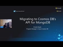Migrating to Cosmos DB's API for MongoDB