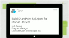 Build SharePoint Solutions for Mobile Devices