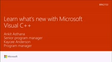 Learn what's new with Microsoft Visual C++