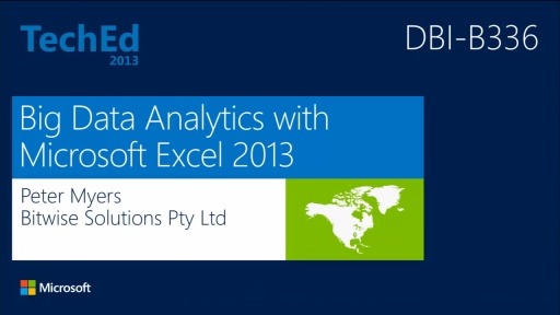 Big Data Analytics with Microsoft Excel 2013