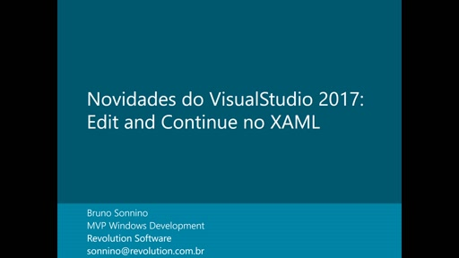 Novidades do Visual Studio 2017: Edit and Continue com XAML