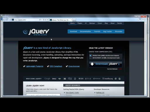 jQuery Tutorial - Download / Usage