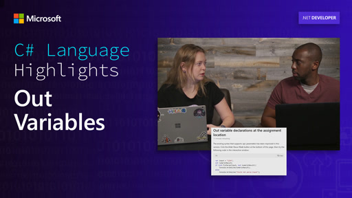 C# Language Highlights: Out Variables