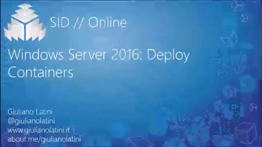 Windows Server 2016 Deploy Containers