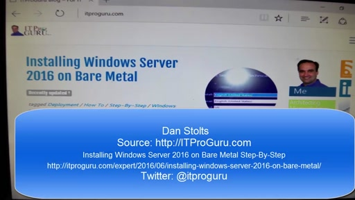 How To Install Windows Server 2016 on Bare metal