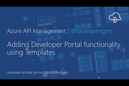 Adding Developer Portal functionality using Templates in Azure API Management