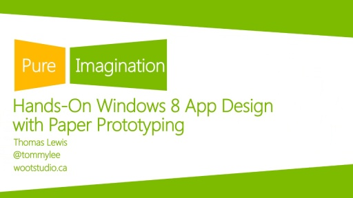 Hands-on Windows 8 App Design with Paper Prototyping
