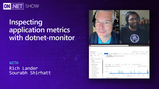 Inspecting application metrics with dotnet-monitor