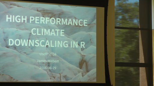 High performance climate downscaling in R