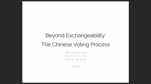 Beyond Exchangeability: The Chinese Voting Process