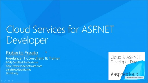 Cloud Services for ASP.NET Developer - registrazione incompleta