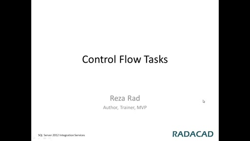 Introduction to Control Flow Tasks