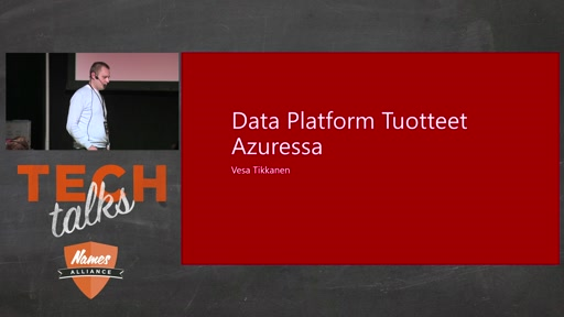 Tech Talks 2016 Flexera Stage Data Platform tuotteet Azuressa