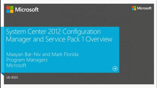 System Center 2012 Configuration Manager SP1 Overview