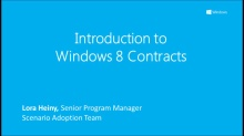 Introduction to Windows 8 Contracts